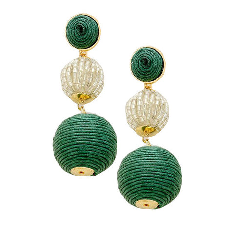 Edie Earrings : Emerald