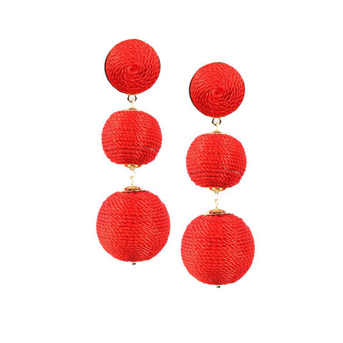 Edie Earrings : Red