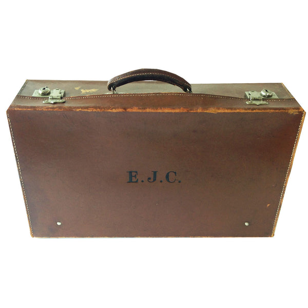 Antique English Suitcase : EJC