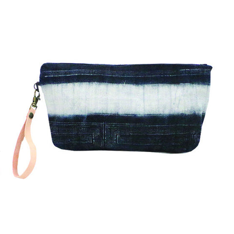 Batik Clutch with Leather Strap