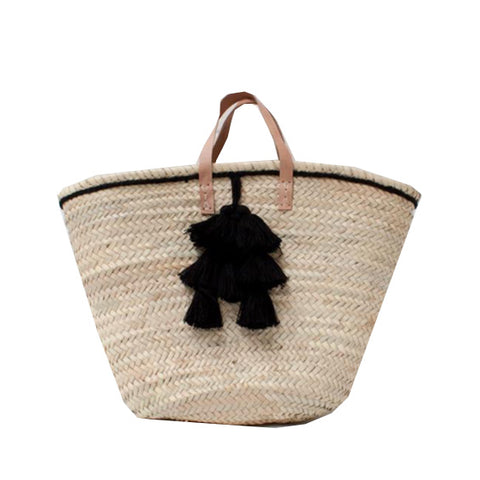 Tassel Basket : Black