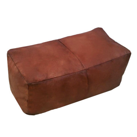 Benny Leather Ottoman