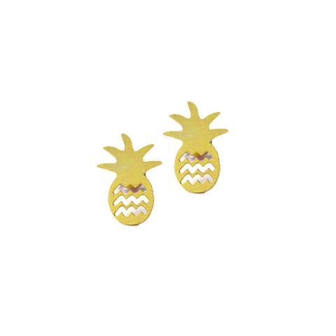 Studs : Pineapple in Brass