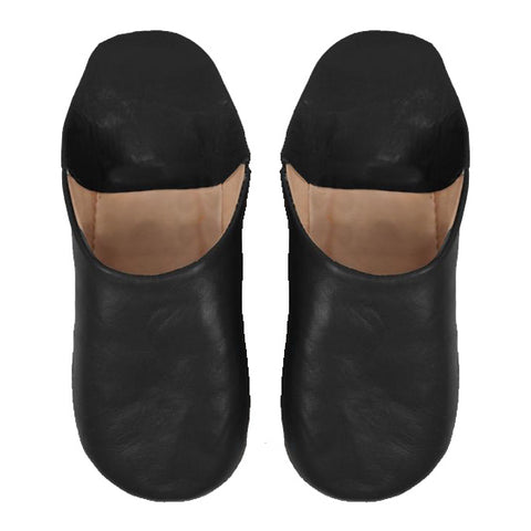 Moroccan Slippers : Black