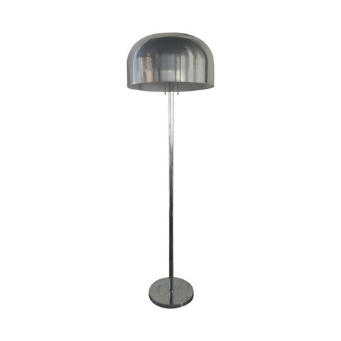 Laurel Mushroom Chrome Floor Lamp