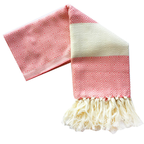 Bianca Turkish Towel : Coral