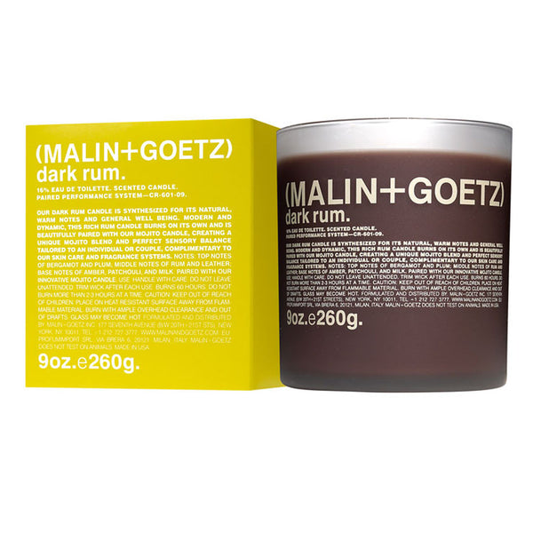 Malin + Goetz : Dark Rum Candle