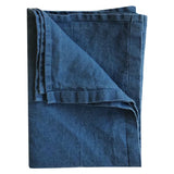Stonewashed Linen Hand Towel : Denim