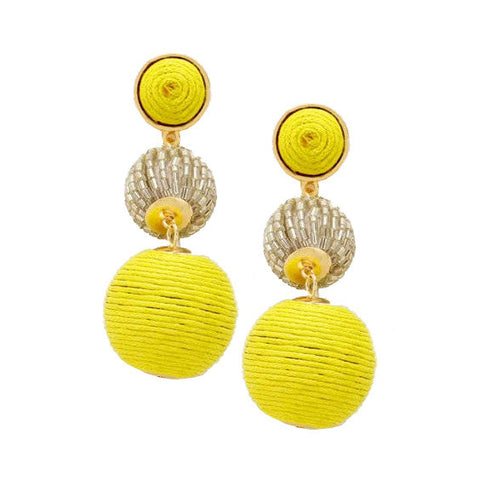 Edie Earrings : Chartreuse