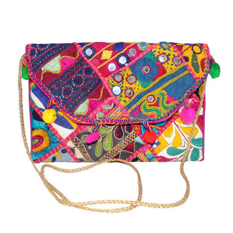 Indie Embroidered Clutch : Four