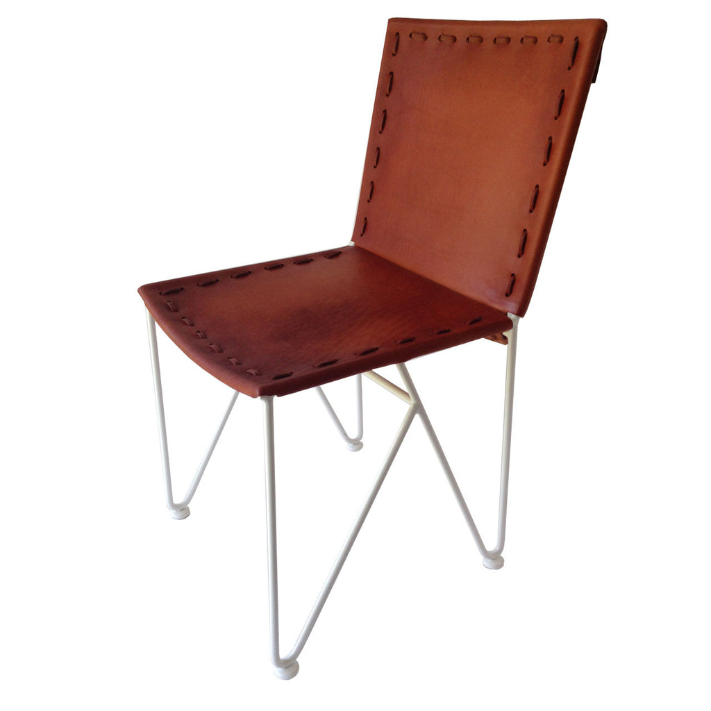 Excellent Garza Marfa Saddle Leather Dining Chair Ibusinesslaw Wood Chair Design Ideas Ibusinesslaworg