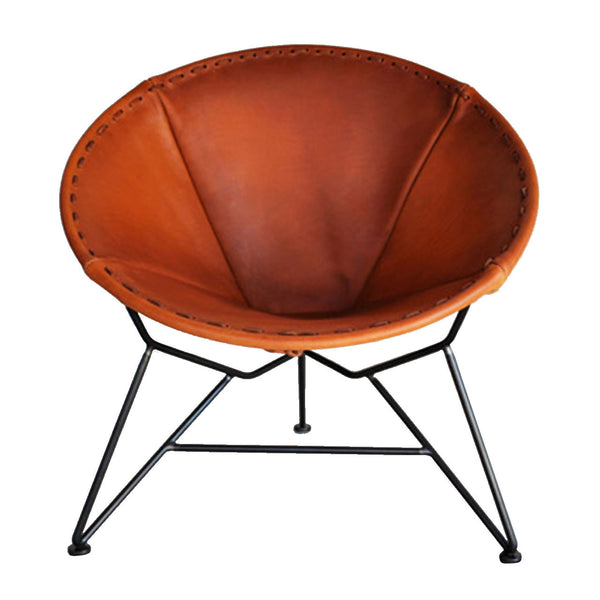 Garza Marfa : Saddle Leather Round Chair