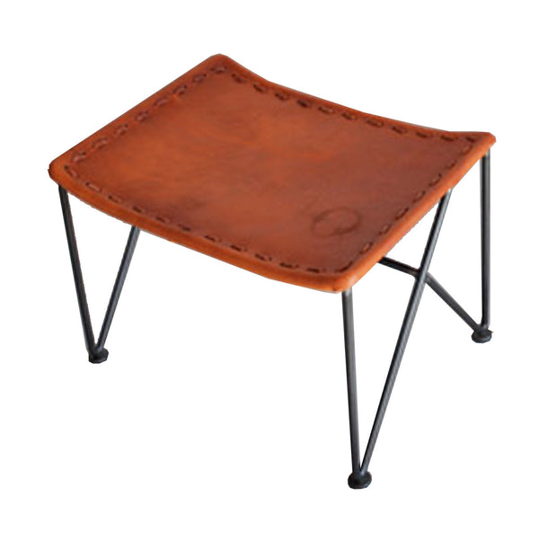 Garza Marfa : Saddle Leather Stool