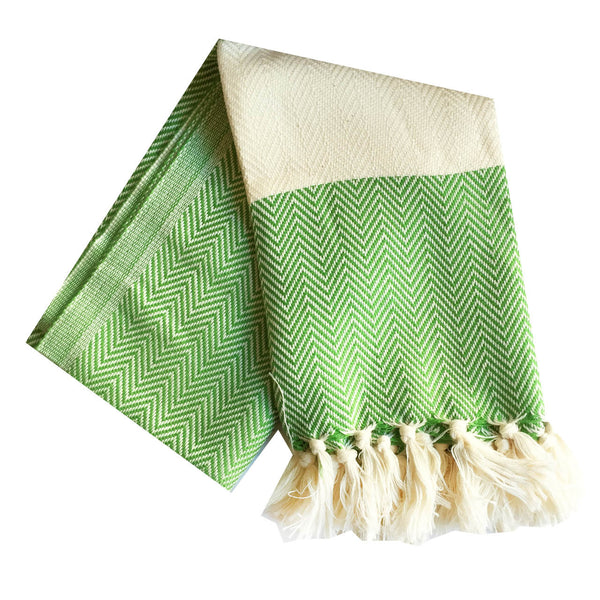 Chevron Turkish Towel : Green