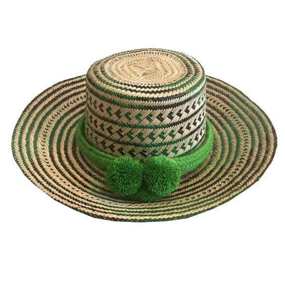 Oaxacan Straw Hat : Green