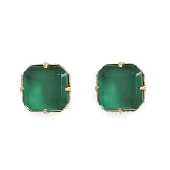Loren Hope : Sophia Studs in Emerald