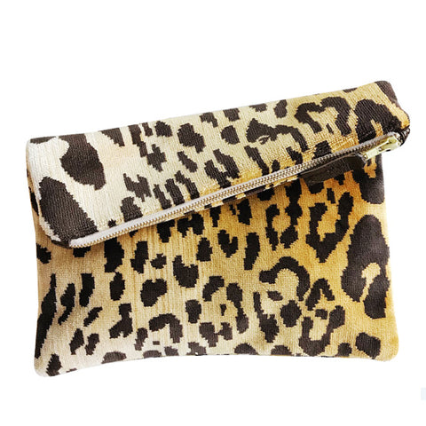 Fold-Over Clutch : Leopard