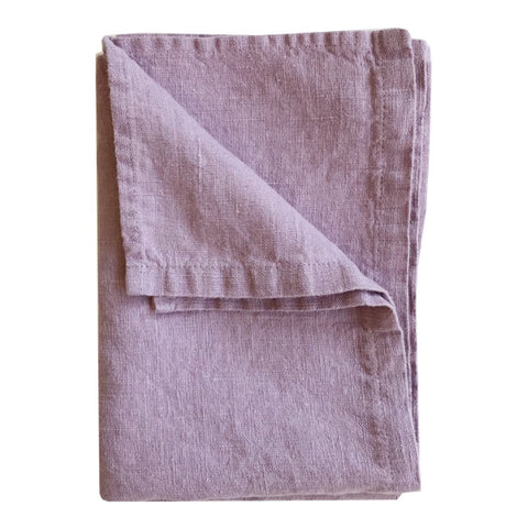 Stonewashed Linen Hand Towel : Lilac