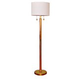 Monumental Brass Floor Lamp