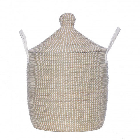 Bonnie Basket : Medium Whitewashed