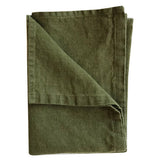 Stonewashed Linen Hand Towel : Olive Green