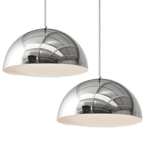 Pair of Chrome Panton Pendants