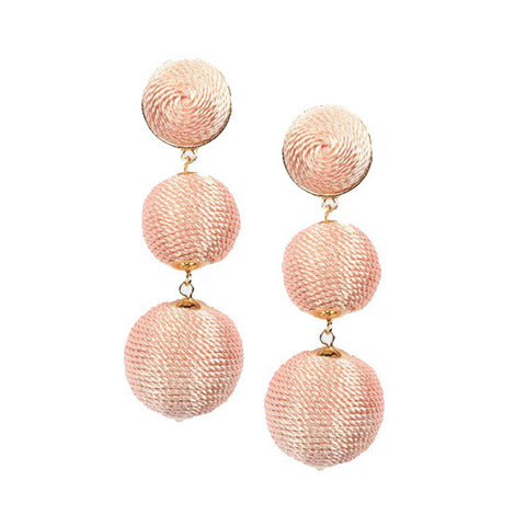 Edie Earrings : Peach