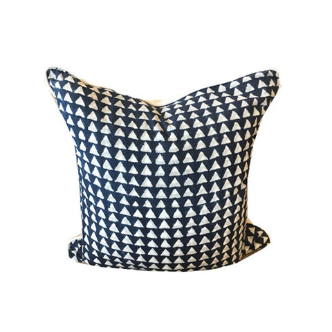 Batik Pillow : Navy Tri Print