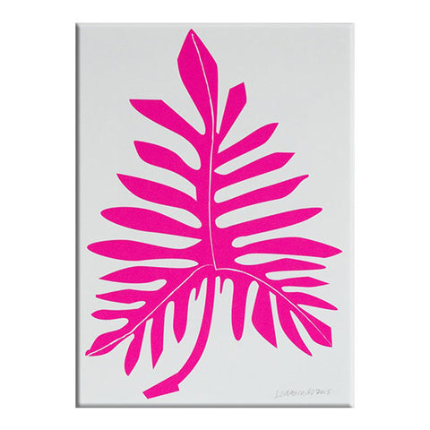 Banquet : Pink Philodendron Print