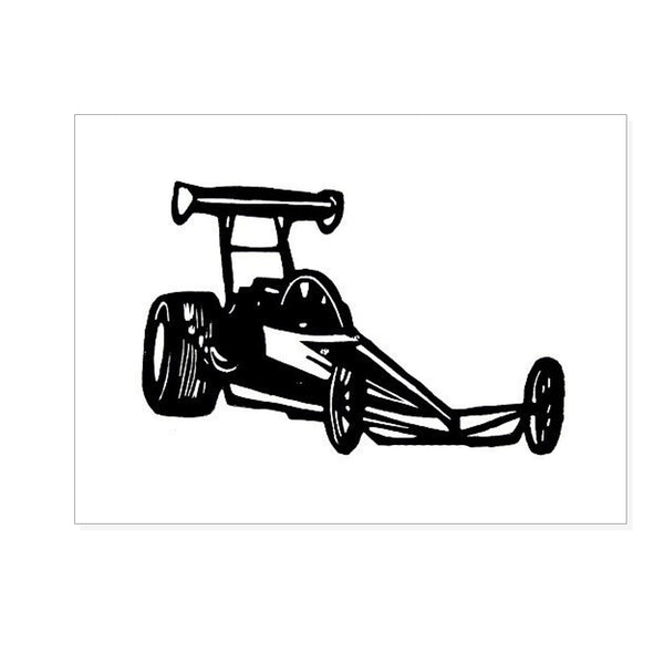 Linoleum Print : Race Car