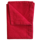 Stonewashed Linen Hand Towel : Red
