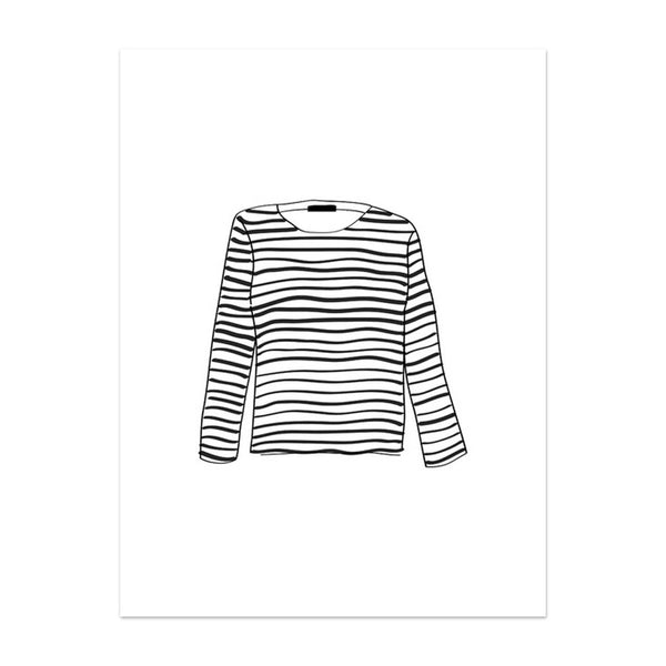 Note To Self : Striped Shirt Print