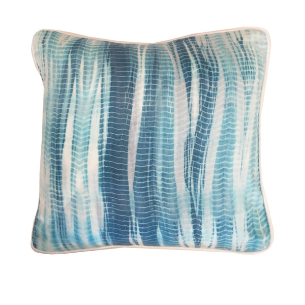 Edie Shibori Pillow : Blue