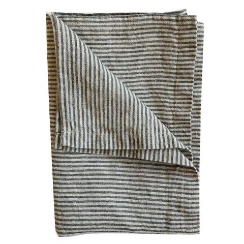 Stonewashed Linen Hand Towel : Stripes