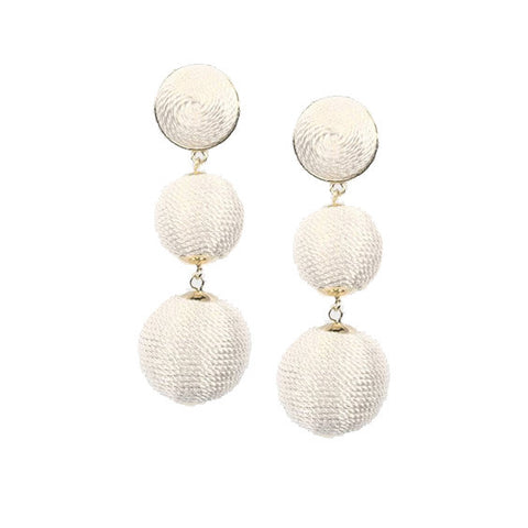 Edie Earrings : White