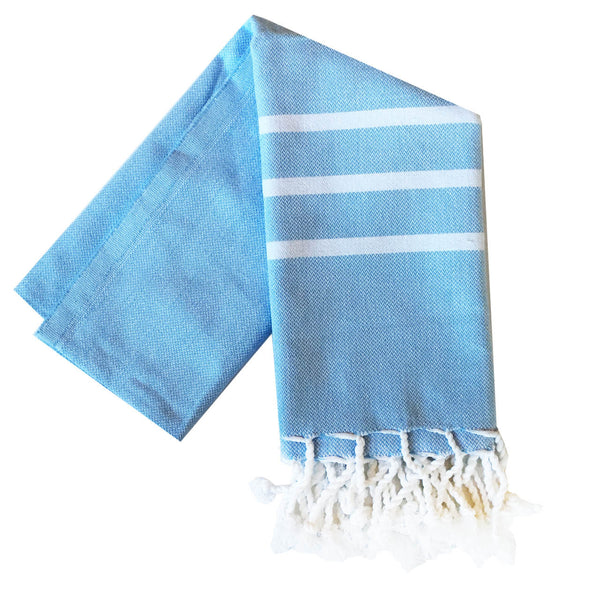 Stripe Turkish Towel : Powder Blue