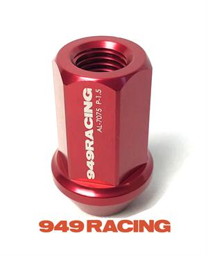 949 Racing Lug Nut - Forged Alloy - Red, 12mm x 1.5