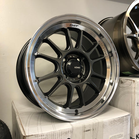 Konig Hypergram 15x8 +35 - Carbon/Machined