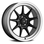 Konig Countergram 15x8 +25 - Matte Black/Matte Machined lip