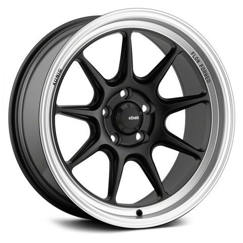 Konig Countergram 15x9 +35 - Matte Black/Matte Machined lip