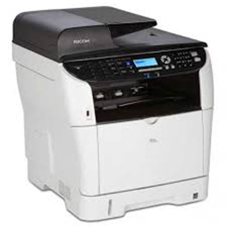 Ricoh SP 3510SF Black and White Laser Multifunction Printer W  Fax (like  new) *ForPickUpOnly