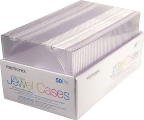 Memorex CD/DVD Slim Clear Jewel Cases, 50/Pack - LiquidationOutlet.ca