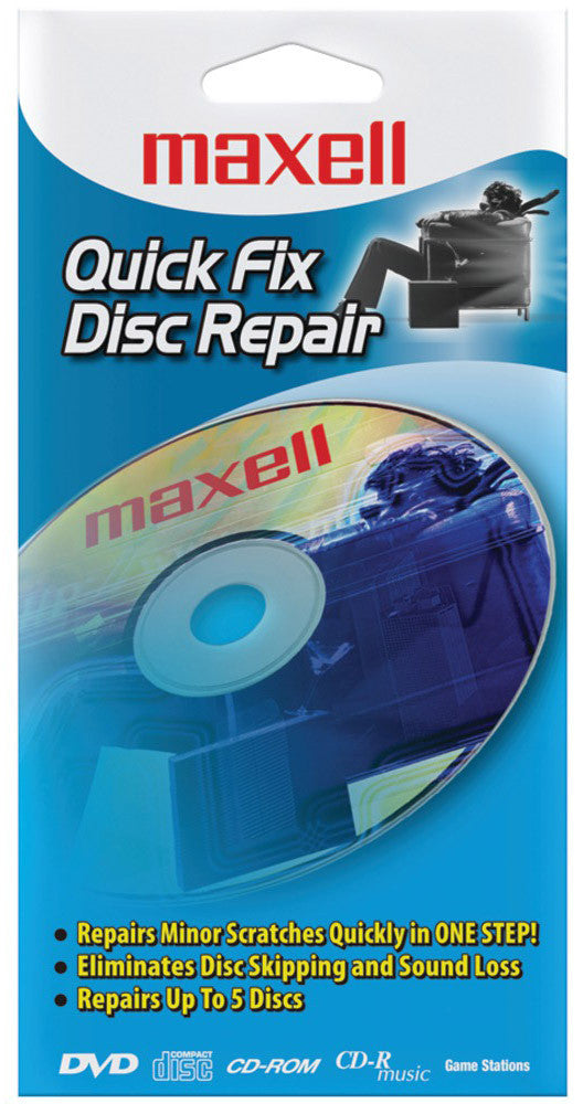 Maxell Quick Fix CD/DVD Disc Repair Kit - 190039