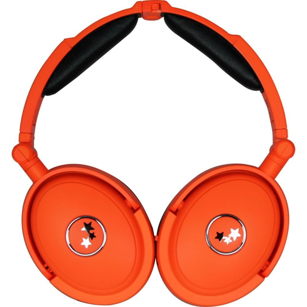 Able Planet NC180ORM MUSICIANS CHOICE NEON Around the Ear Active Noise Canceling Headphones with Award-Winning LINX AUDIO - LiquidationOutlet.ca