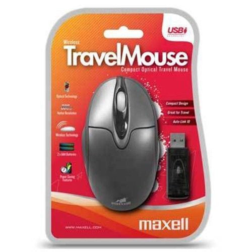 Maxell Wireless Travel Mouse Black - 347017
