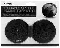 Vibe Foldable Sphere 3.5mm Portable Stereo Speakers - Black - VS-570-SK-BLK - LiquidationOutlet.ca
