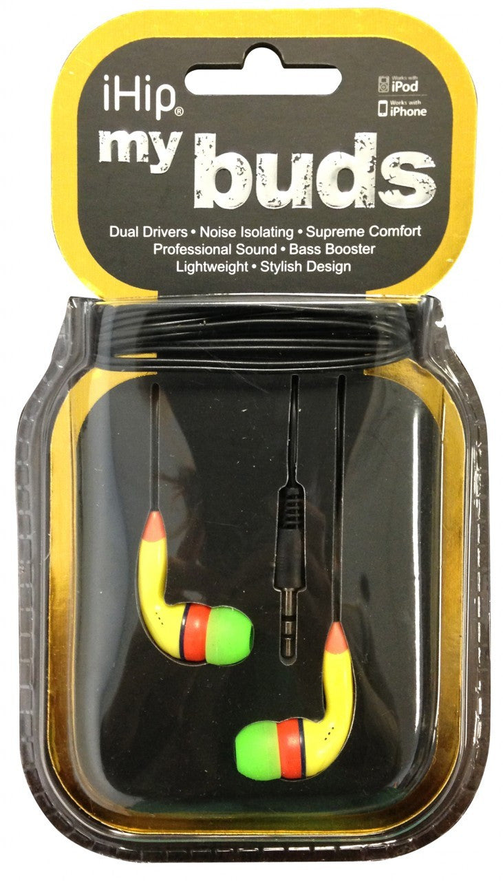 iHip myBuds EarBuds - Yellow - IPMB-Y - LiquidationOutlet.ca