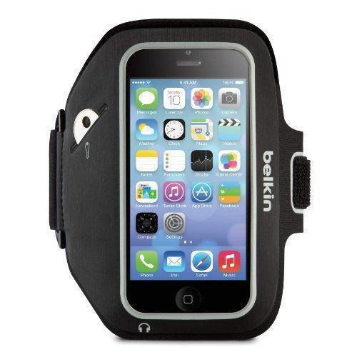 New Belkin iPhone 5 / 5S / 5C Armband Sport Fit - F8W368btC00 - LiquidationOutlet.ca