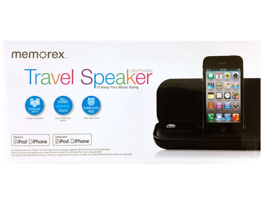 Memorex Ultra Portable Travel Speaker - Black - MA3122 - LiquidationOutlet.ca