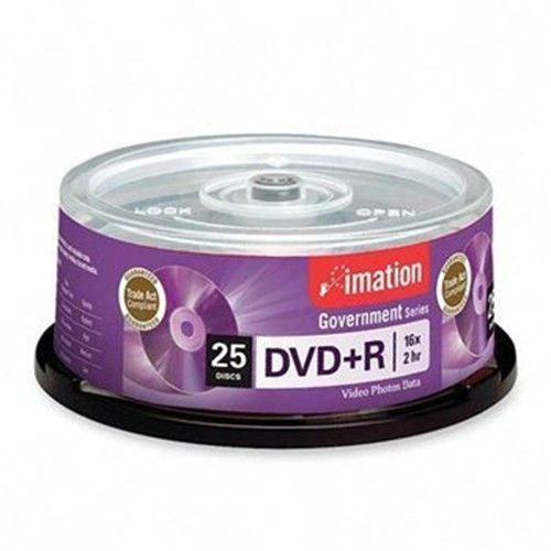 Imation Government Series 16x DVD+R Media - 4.7GB - 120mm Standard - 25 Pack - LiquidationOutlet.ca